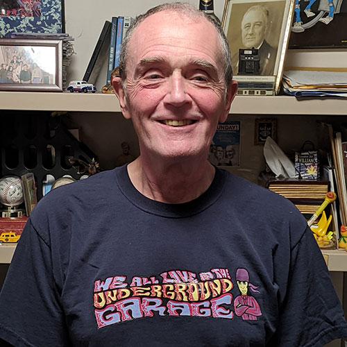 Image of host bill kelly underground garage