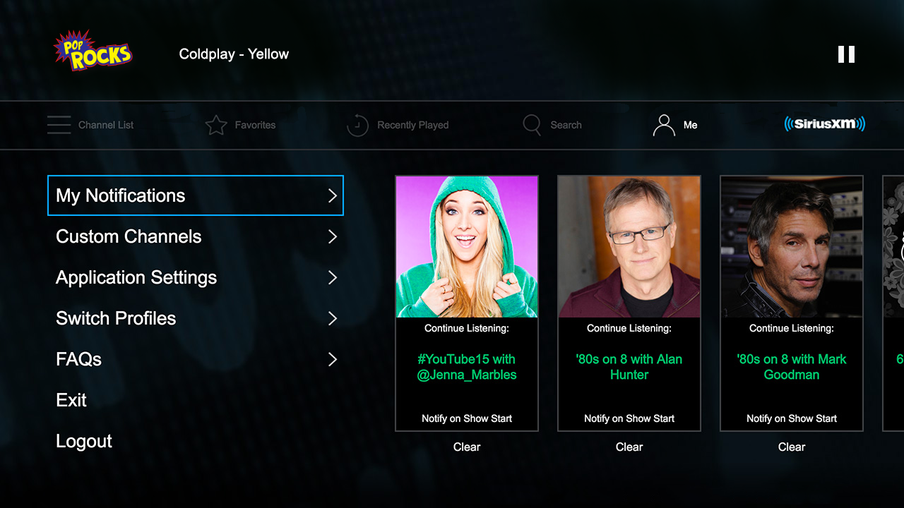 Pop Channels Screen
