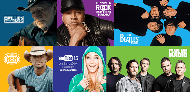 featured SiriusXM artists and channels