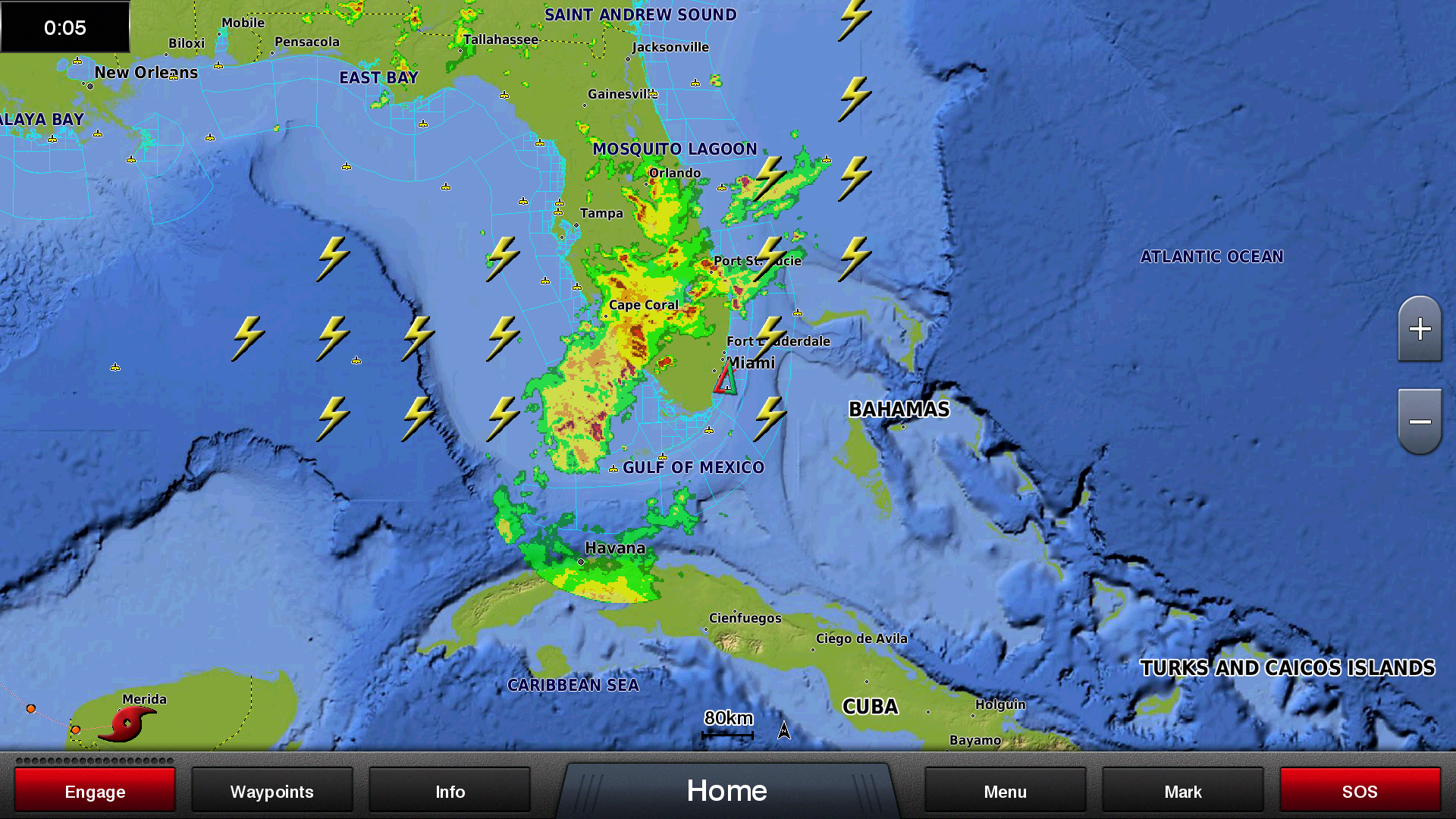 Marine Weather Map.Siriusxm Marine Weather