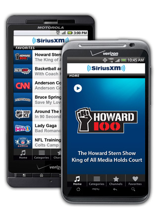 SiriusXM On Your Android Device