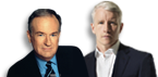 Bill O'Reilly and Anderson Cooper
